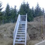 Výroba a montáž pozinkovaného  otočného schodiště pro vodojem Baliny
